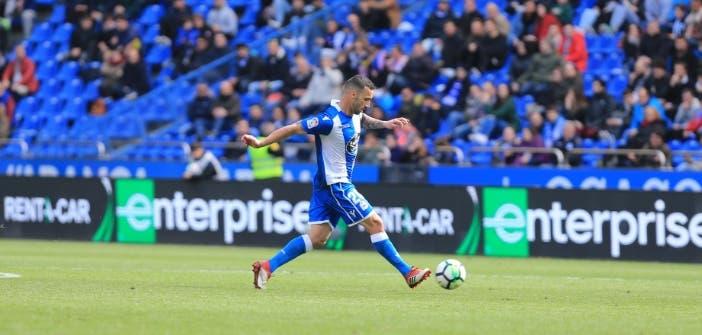 Guilherme en el encuentro Deportivo - Las Palmas