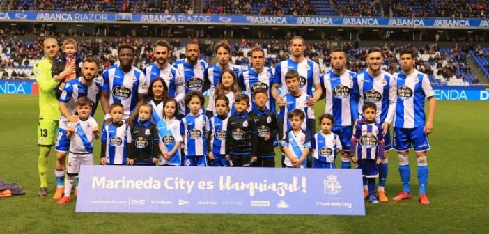Deportivo, once inicial ante el Málaga