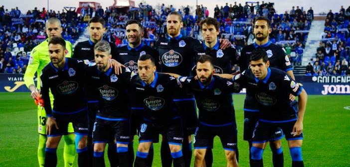 Once inicial del Deportivo frente al Leganés