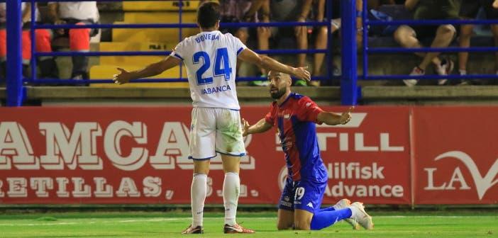 Eneko Bóveda en el Extremadura vs Deportivo
