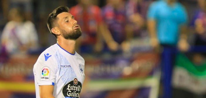 Borja Valle resoplando en el Extremadura vs Deportivo