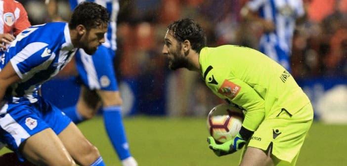 Dani Giménez se asienta en la portería del Deportivo