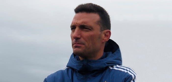 Lionel Scaloni con Argentina