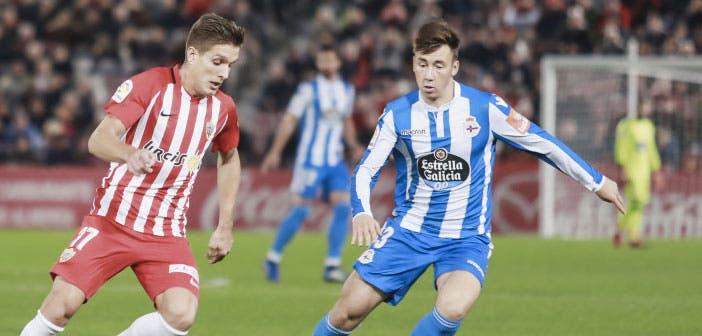 El Deportivo recibirá el viernes a un Almería al alza