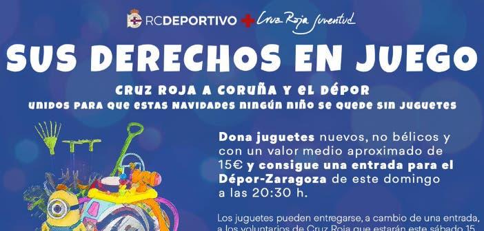 Iniciativa solidaria del Deportivo y Cruz Roja: un juguete, una entrada