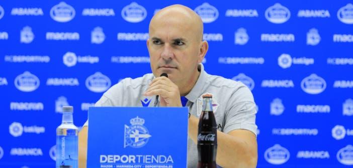 Luis César Sampedro en rueda de prensa tras el Deportivo vs Elche