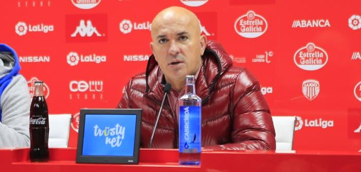 Luis César, entrenador del Deportivo en Lugo