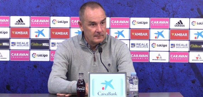 Víctor Fernández en rueda de prensa antes del Deportivo vs Zaragoza