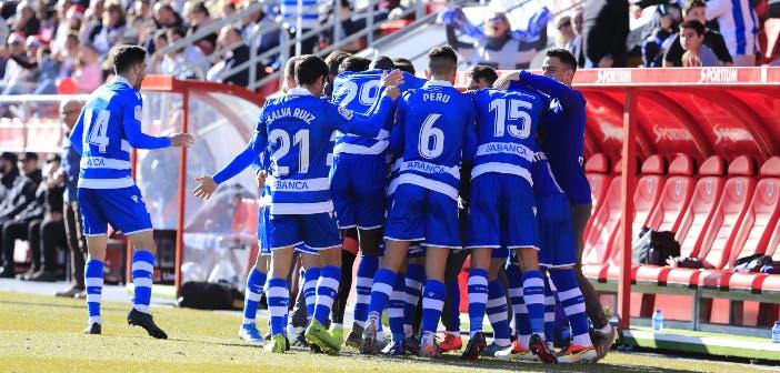Numancia vs Deportivo - Celebración del gol de Somma