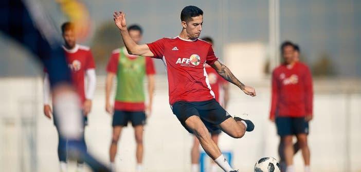 Bicho, en un entrenamiento con la Selección AFE