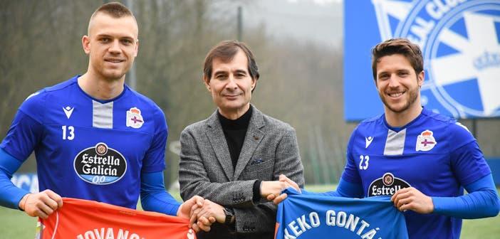 Richard Barral con Jovanovic y Keko en su presentación
