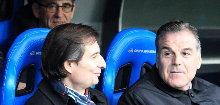 Richard Barral y Fernando Vidal en Riazor
