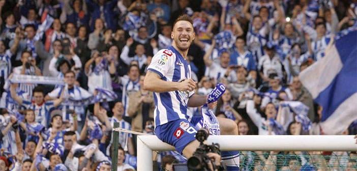Xisco Jiménez, el día del ascenso con el Deportivo