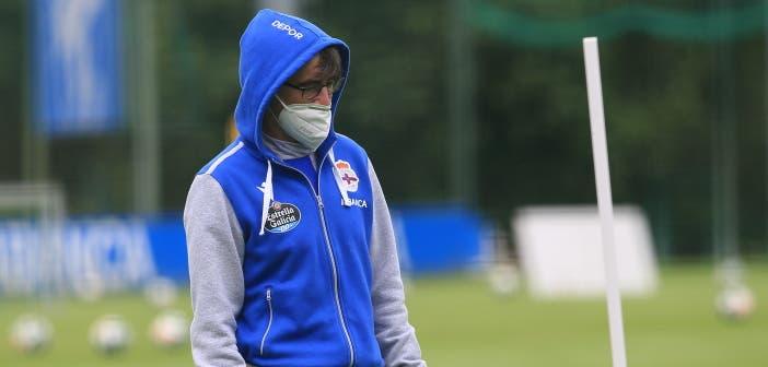 Fernando Vázquez entrenando al Deportivo