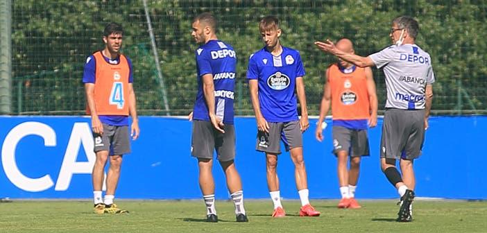 Fernando Vázquez y Gandoy en un entrenamiento