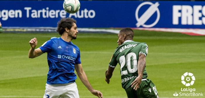 Arribas y Beauvue en el Oviedo vs Deportivo