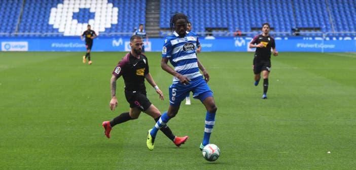 Abdoulaye Ba con el Deportivo