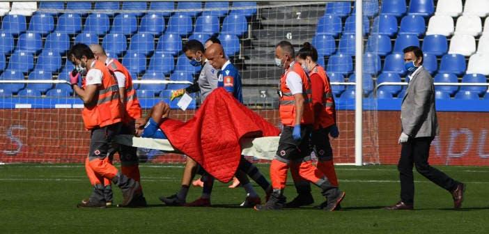 Peru, lesionado con el Deportivo