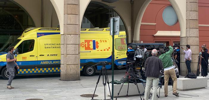 Ambulancia con jugador del Fuenlabrada por coronavirus
