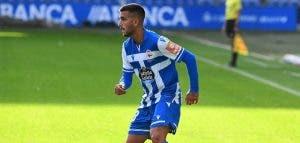 Adri Castro con el Deportivo