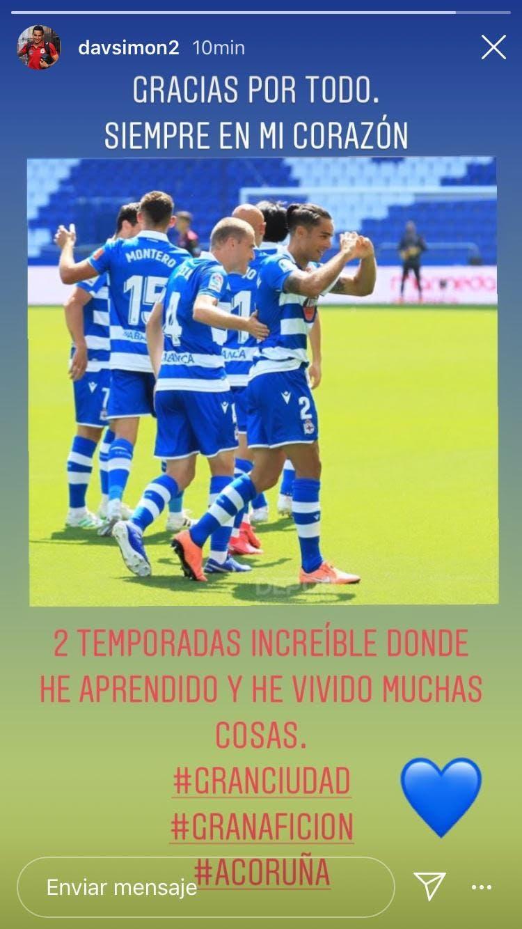 David Simón se despide del Deportivo