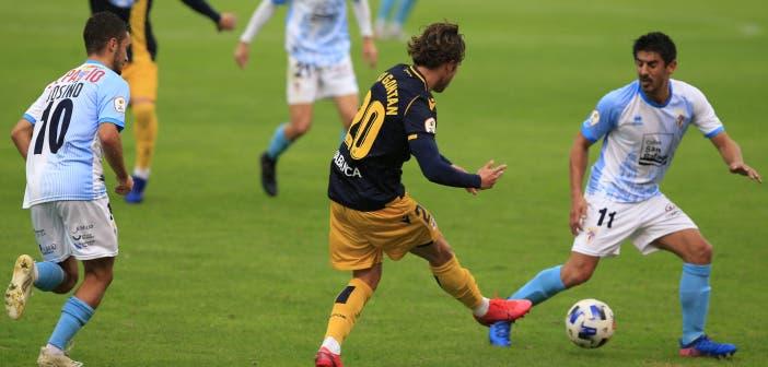 Keko Gontán, en el partido contra el Compostela