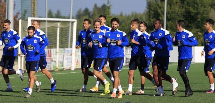 entrenamiento del Deportivo en O Monte