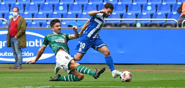 Antón de Vicente en el Deportivo vs Coruxo
