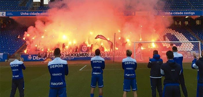 Riazor Blues antes del Deportivo vs Racing de Ferrol