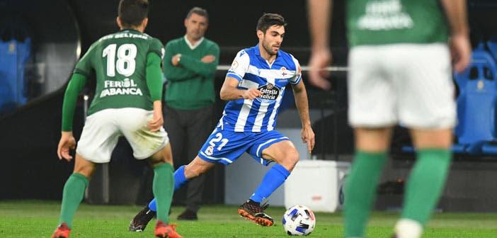 Salva Ruiz con el Deportivo