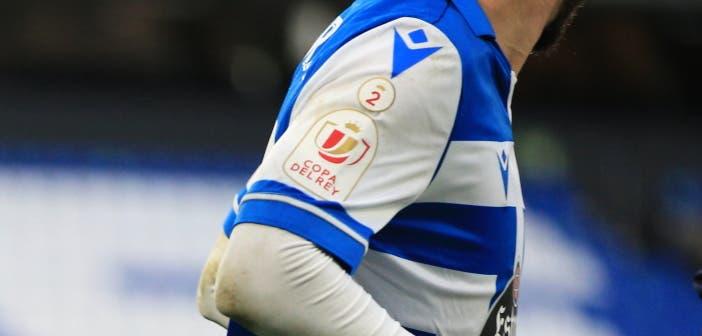 insignia del Deportivo en la Copa vs El Ejido