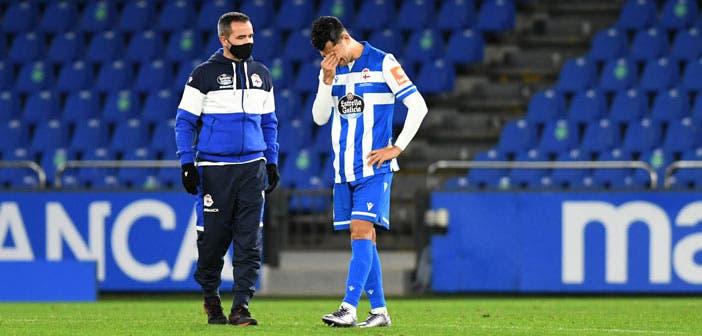 Miku acabó lesionado el Deportivo vs El Ejido