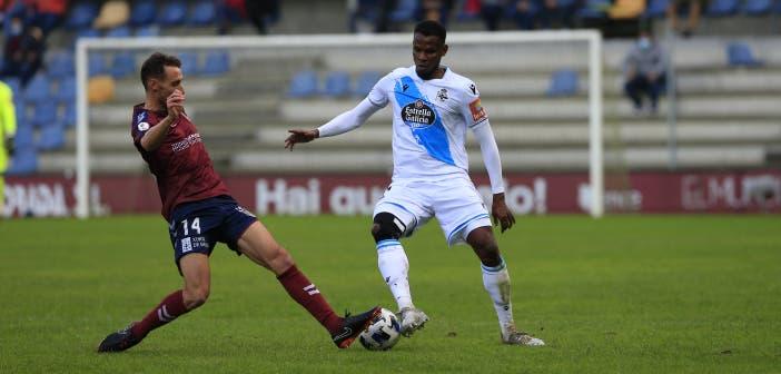 Uche Agbo en el Pontevedra vs Deportivo