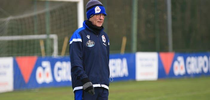 Fernando Vázquez en entrenamiento del Deportivo