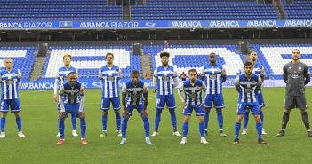Once inicial Deportivo vs Compostela