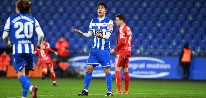 Miku en un partido con el Deportivo