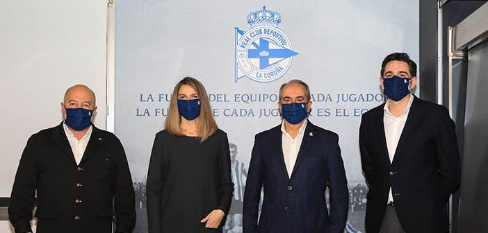 Antonio Couceiro y la nueva directiva del RC Deportivo