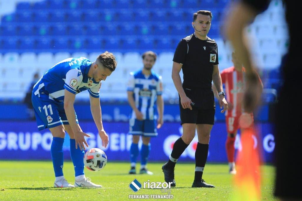 Borja Galán en el Deportivo vs Zamora