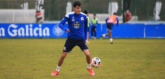 Diego Villares con el Deportivo