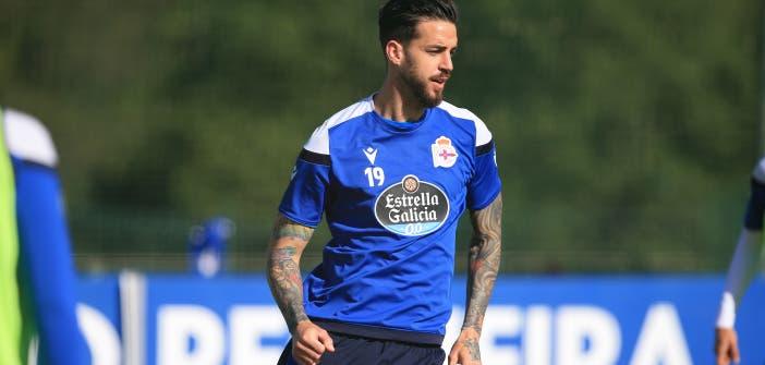 Borja Granero con el Deportivo