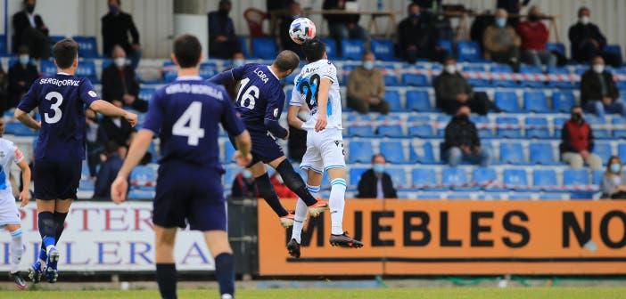 Remate de Keko Marino de Luanco vs Deportivo