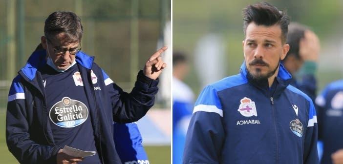 Fernando Vázquez y Rubén de la Barrera, entrenadores del Dépor 20/21