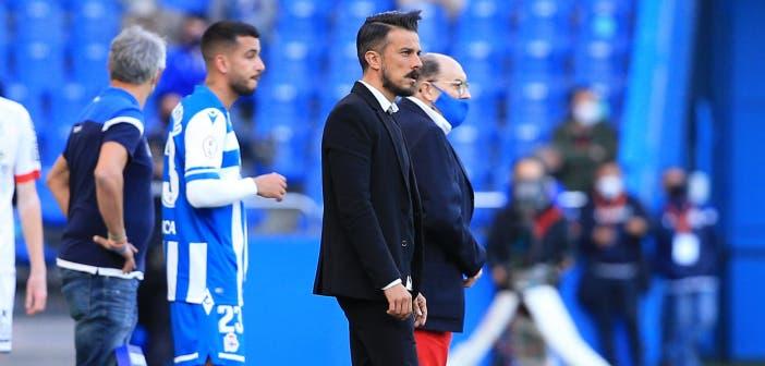 Rubén de la Barrera en el Deportivo vs Langreo