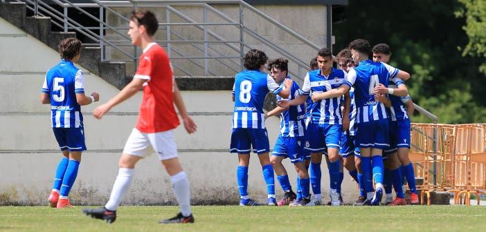 celebración del Deportivo Juvenil
