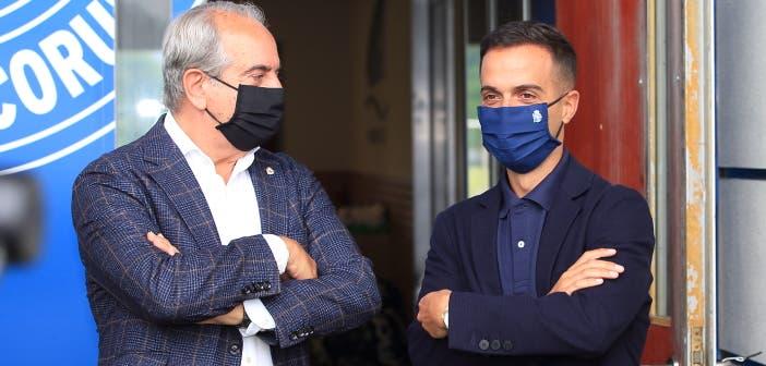 Borja Jiménez y Antonio Couceiro esperan un Deportivo de cantera