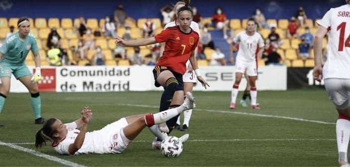 Athenea del Castillo con la Selección Española Femenina