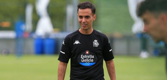 Borja Jiménez en Abegondo, entrenamiento con el Deportivo