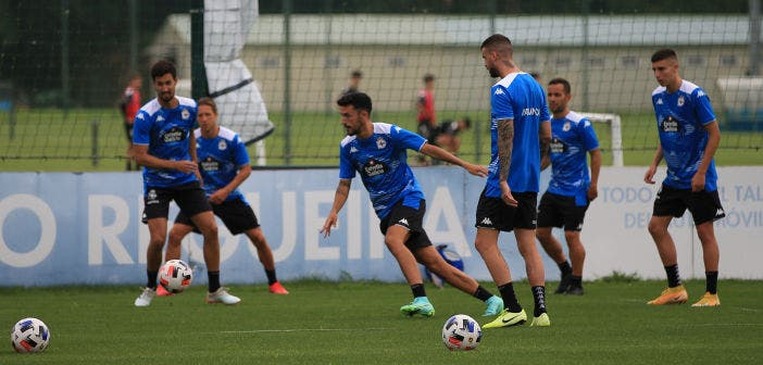 El Deportivo se entrenó en Abegondo y el miércoles jugará ante el Racing Villalbés