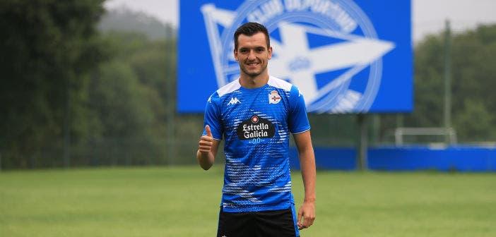 Presentación de Adrián Lapeña con el Deportivo