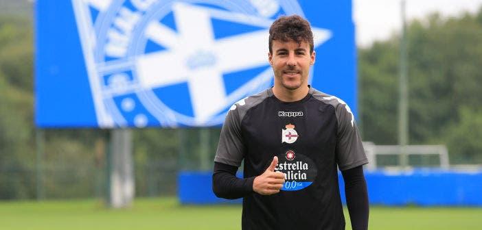 Presentación de Diego Aguirre como jugador del Deportivo